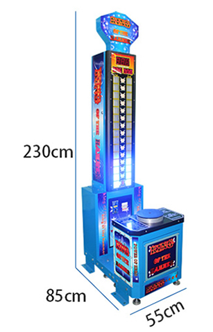 Amusement park coin operated lottery ticket hammer arcade game machine