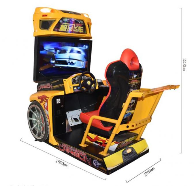 Customized Racing Game Machine For Amusement Park / Arcade Playing Center