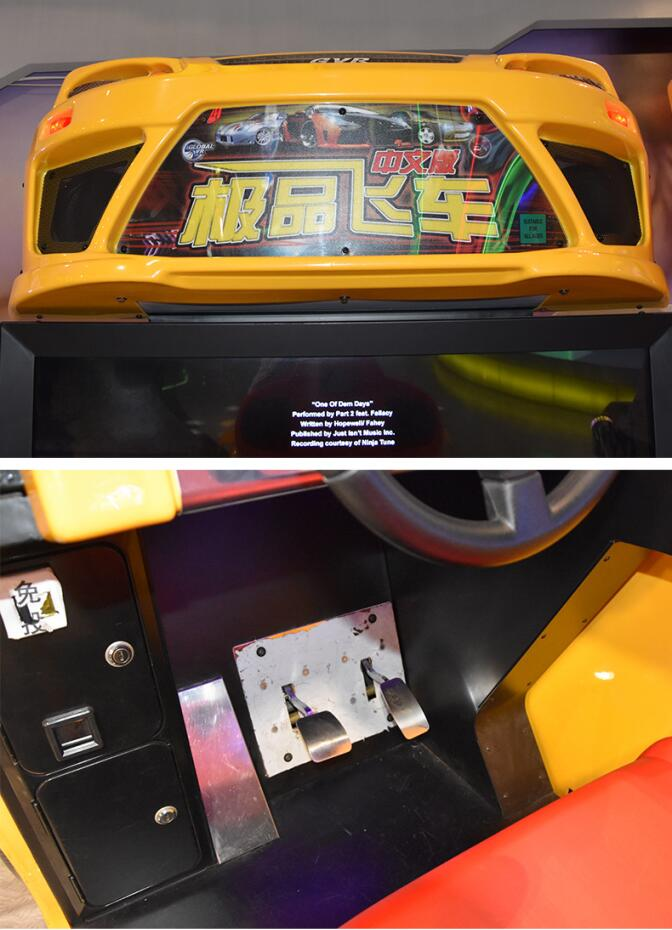 Plastic Need For Speed Arcade Machine / Drable Car Racing Arcade Machine