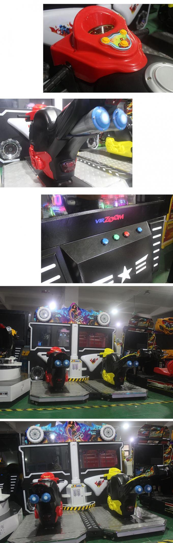 42 Inch Flaming Moto Racing Game Machine For Shopping Mall / Supermarket