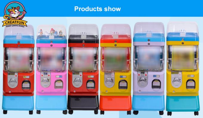 Single Layer Gumball Vending Machine For Supermarket / Shopping Mall