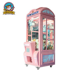 Telephone Crown Coin Operated Toy Vending Machines LED Light With Music
