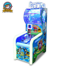 Ball Shooting Ticket Redemption Game Machine Colorful LED Light With Music