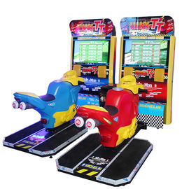 China Fun Racing Game Machine Motorcycle Racing Arcade Game Adjustable Seat supplier