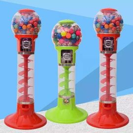 PC / ABS Metal Material 1 Player Spiral Gumball Machine For Shopping Mall