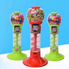 110V 220V Spin Capsule Toy Machine / Gum Bouncy Ball Vending Machine