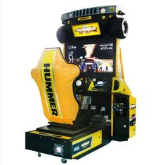 China Hummer Racing Game Machine With Beautiful Cartoon Appearance / Plastic Light Box supplier