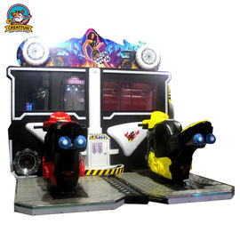 China 42 Inch Flaming Moto Racing Game Machine For Shopping Mall / Supermarket supplier