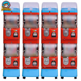 China Amusement Center Gumball Vending Machine Transparent Ball Box 1-6 Coins supplier