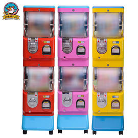Double Layer Gumball Vending Machine With Coin Operated 1-6 Coins