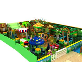Amusement Parks Kids Playground Equipment Green Leisure Naughty Castle