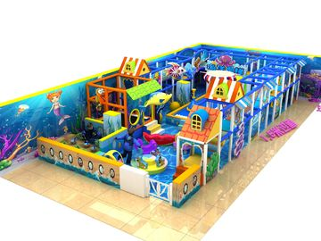 Naughty Castle Kids Playground Equipment For Play Center , Outdoor Training Place