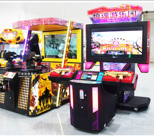 China 2 Players Shooting Game Machine Laser Electronic Customized Color distributor